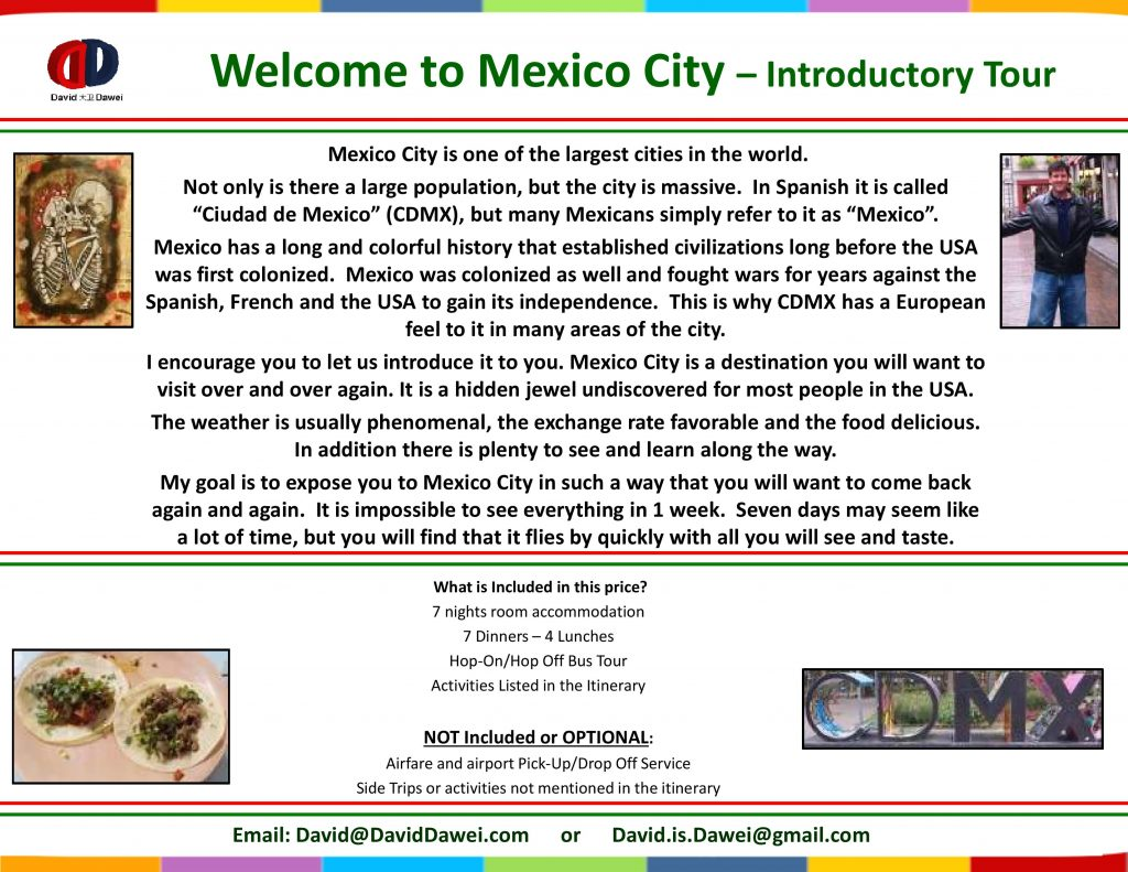 Welcome to Mexico City – Introductory Tour - Page 1